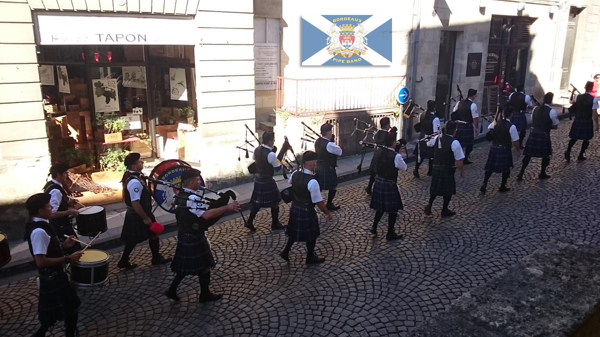 Bordeaux Pipe Band saint Emilion  jurade 2015