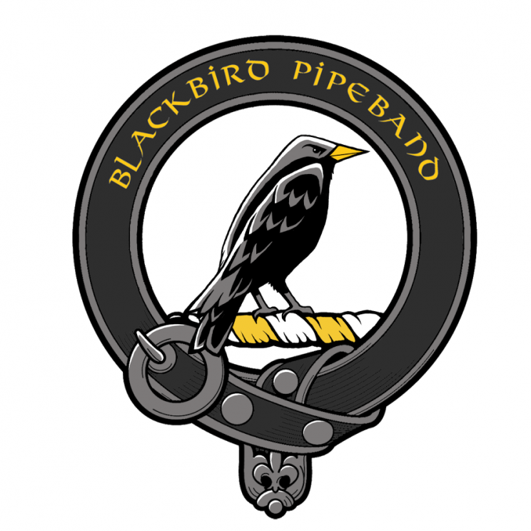 Logo du Black Bird Pipe Band, pipe band Nantais.